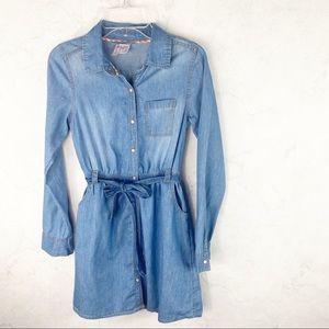[Japna Kids] Classic Button Up Jean Dress